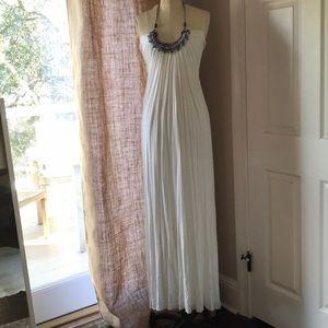 SKY white maxi dress.